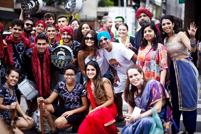 Bloco Bollywood fun