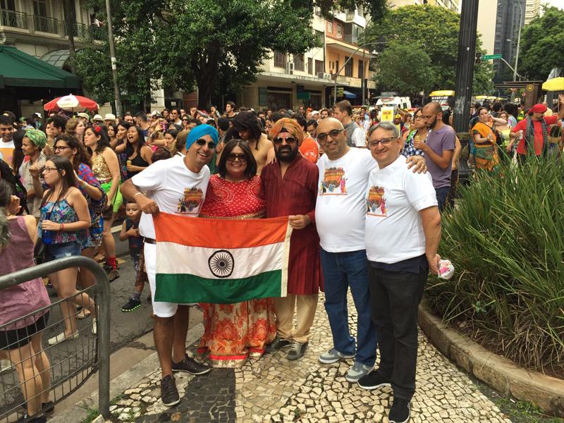 Indian carnival in Brazil
