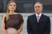 Brazil's acting president Michel, 76, with wife Marcela Temer, 33.