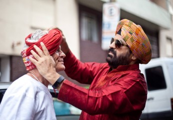 Turban tying for fun