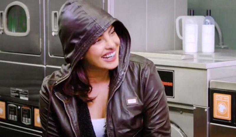 Priyanka wearing her ex-boyfriend's jacket.