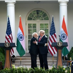 Modi and Trump: Starting with a hug and ending with a hug.